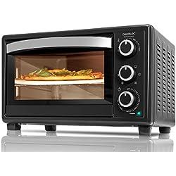 Cecotec Bake&Toast 570 4Pizza Horno Convección de Sobremesa, 6 Modos, Piedra Especial para cocinar Pizza, 1500 W, Temperatura hasta 230ºC y Tiempo hasta 60 minutos, 26 litros, Negro