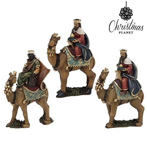 Figura Decorativa Christmas Planet 6876 11 cm (3 pcs) Rey mago