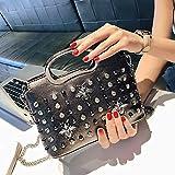MCCS Damentasche UmhäNgetasche Handtasche Rucksack Makeup Mode Trend Freizeit Wasserdicht Typ Volltonfarbe 2018,GraySilver