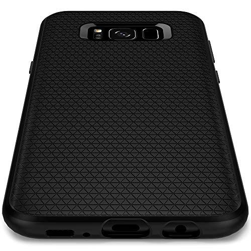 Spigen Liquid Air Kompatibel mit Samsung Galaxy S8 Hülle (565CS21611) Stylisch Muster Design Handyhülle Schutzhülle SilikonCase Black