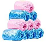 QI FANG BUSINE Einweg-Schuhüberzüge Kunststoffkappe Bold Rainproof Wasserdicht Innen Fußabdeckung Insgesamt 200 (Nach Dem Öffnen: 15 * 6 Zoll)