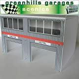 Greenhills Scalextric Slot Car Building Modern Pit Boxes Kit 1:32 Scale