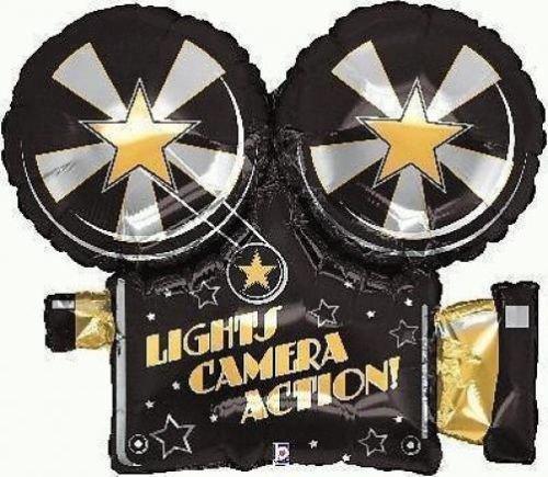 Hollywood/Movie Night Theme Party - Movie Camera 32 Supershape Balloon by Hollywood/Movie Night (Movie Partys Themes Für)