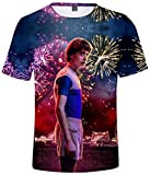 Silver Basic Stranger Things TV Series Camiseta Spring Verano Algodón Unisexo,3661-1,4XL