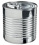 Konservendose Metall Durchmesser 60.7H 59.5mm 110ml mit passendem Deckel–Lot de 25