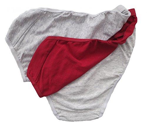 3er 6er Pack Damen Rio SLIPS Pantys Unterhosen Unterwäsche Bikinislips 100% Baumwolle 3er Gestreift Weiß Blau