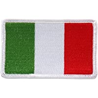 Embroidered ITALIAN Flag PATCH, Iron-On / Sew-On - 3