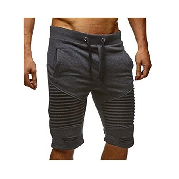 official site offer discounts meet Juqilu Pantalon Court Bermuda Homme - Sport Jogging Shorts Pantacourt  Poches Trous Plier Casual Décontracté Fitness Shorts Pantalon M-2XL