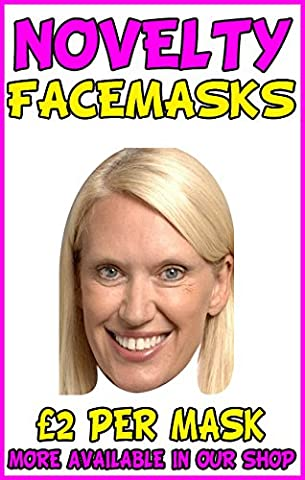 Anneka Rice Novelty Celebrity Face Mask Party Mask Stag Mask