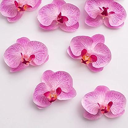 artplants.de Mini Flores de orquídea phalaenopsis, Rosa, 18 Unidades en la Caja – Flores Artificiales – Flores Decorativas