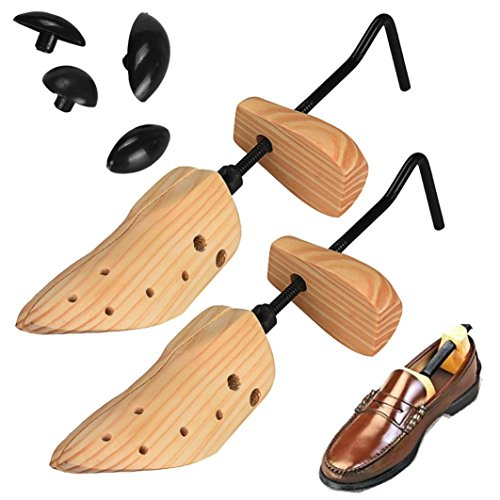 kingko-2pcs-mens-womens-shoe-tree-professional-wooden-shoes-stretchers-shaper-bunions-to-fit-sizes-6