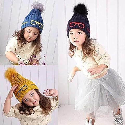 Insiemi di calda lana cappello , blue