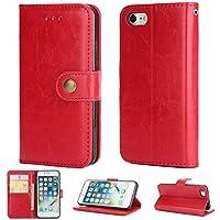 KAMILEO iPhone 7/8 Hülle, Klapphülle Flip Case Kunstleder mit Schutzhülle Back Cover Protective Brieftasche Wallet Case Magnetische mit Kartenfach Standfunktion