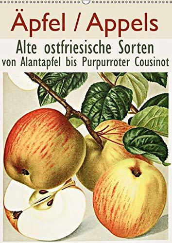 Äpfel/Appels. Alte ostfriesiache Sorten (Wandkalender 2019 DIN A2 hoch): Von Alantapfel bis Purpurroter Cousinot (Monatskalender, 14 Seiten ) (CALVENDO Natur)