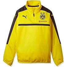 Puma BVB – Chaqueta Infantil 1/4 Training Top with Sponsor Logo, Cyber Yellow