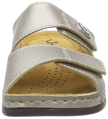 Vista 69-608 Damen Pantoletten Silber (beige)