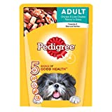 #3: Pedigree Wet Dog Food, Chicken & Liver Chunks for Adult Dogs – 80g