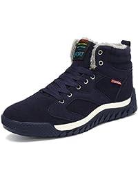 SAGUARO® Hombre Botines Zapatos Botas De Nieve Invierno Cortas Fur Aire Libre Boots