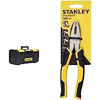 "Stanley 1-79-216 Cassetta Porta Utensili One Touch, 16"" & Stht0-74454 Pinza Universale Control Grip, 180 Mm"