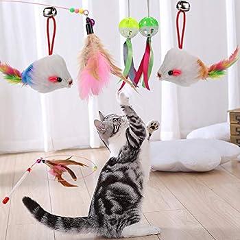 20 Jouets De Chat, Chaton Chaser Jouets, Teaser De Plumes Interactif, Jouets Souris, Balles Et Cloches Pour Chat Intérieur Kitty