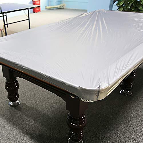 Cocoarm Abdeckplane für Billardtische Billard Tischabdeckung Snooker Waterproof Abdeckung Oxford Tuch Wasserdicht Eeignet für 8 Fuß-Tische 260 x 170cm (Silbergrau)