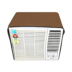 Lithara Beige Colored waterproof and dustproof window ac cover for Voltas 182 DY Delux Y Series AC 1.5 Ton 2 Star Rating