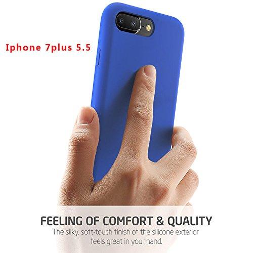 "First2savvv iPhone 7 4.7. iPhone 8 4.7 "" Stoßdämpfende Hülle Case Schutzhülle Silikon Case Durchsichtig iphone 7 -XJPJ-I7-4.7-C02 blau Silikon Hülle-5.5"