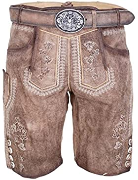 Michaelax-Fashion-Trade Krüger - Herren Lederhose in braun, Julius (94635-7)