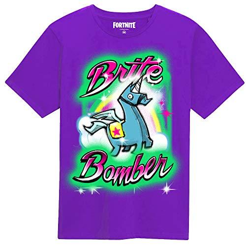 Fortnite Brite Bomber Airbrush Youth Kid's T-Shirt