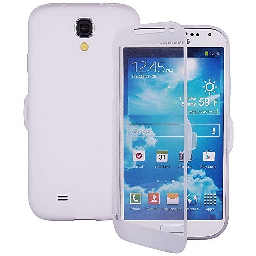 TPU trasparente per Samsung Galaxy Note 2 N7100 Display Touch Smart Cover a rosa bianco