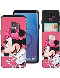 Disney - Funda para Galaxy S9 Plus, diseño delgado, con ranuras para tarjetas, absorción de impactos, a prueba de golpes, doble capa, resistente Sports Minnie Mouse (Galaxy S9 Plus)