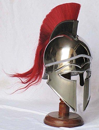 SURIN Shakti entreprises médiéval Casque Corinthien Grec Armour avec plume rouge Chevalier Casque Spartiate répliqu
