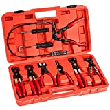 TecTake Schlauchklemmenzange Schlauchschellenzange Werkzeug Set inkl. Koffer