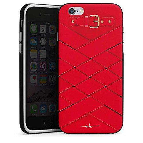 Apple iPhone 8 Tasche Hülle Flip Case Schnalle Ruby Fashion Mode Silikon Case schwarz / weiß