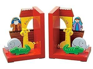 Orange Tree Pair of Wooden Noahs Ark Bookends