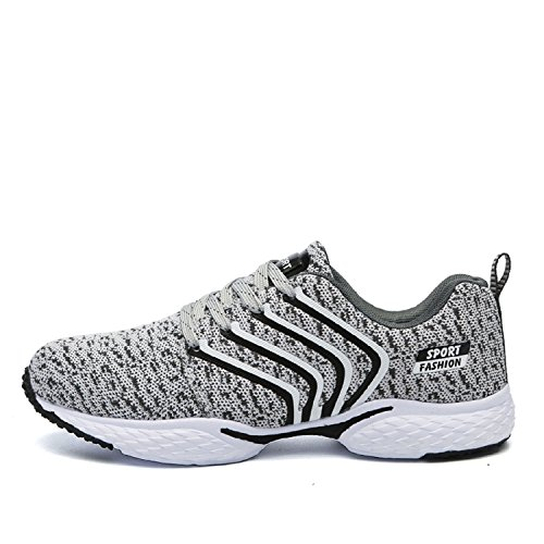 T-Gold 2017 Uomo Scarpe da Ginnastica Corsa Sportive Running Sneakers Palestra Fitness Interior Casual all'Aperto Estate Grigio