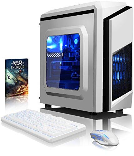 VIBOX Pyro GS530-145 Gaming PC Ordenador de sobremesa con Cupón de juego (3,5GHz Intel i5 Quad-Core Procesador, Nvidia GeForce GT 730 Tarjeta Grafica, 8GB DDR4 RAM, 1TB HDD, Ningún sistema operativo)