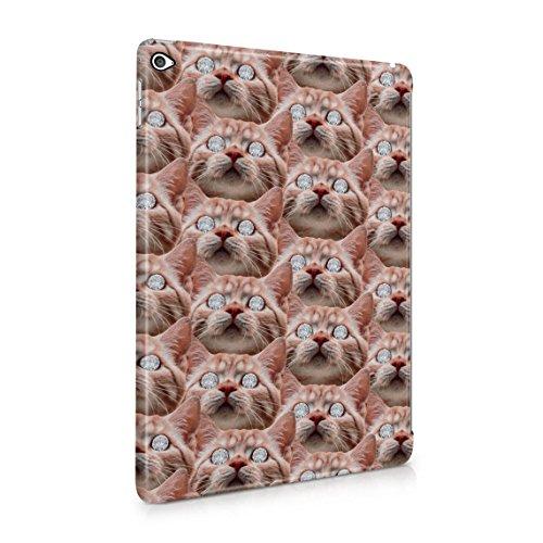Rote Katze Diamond Eyes Pattern Dope Rich High Lush Life Dünne Rückschale aus Hartplastik für iPad Air 2 Tablet Hülle Schutzhülle Slim Fit Case Cover -