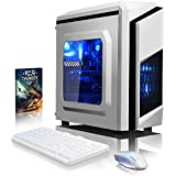 VIBOX Pyro GS450-109 Gaming PC Ordenador de sobremesa con Cupón de juego (4,0GHz AMD FX Quad-Core Procesador, Nvidia GeForce GTX 1050 Tarjeta Grafica, 8GB RAM, 1TB HDD, Ningún sistema operativo)