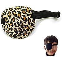 Preisvergleich für Augen-Flecken Lazy Eye Soft-Einzel Piraten-Patch mit Gummiband für Erwachsene und Kinder (Leopard Farbe)