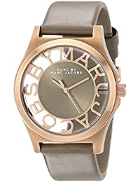 Marc Jacobs MBM1245 - Reloj para mujer con correa de acero/piel, color beige / gris