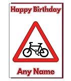 Radfahren Road Signs Personalisierte Geburtstagskarte-Jeder Name und Alter