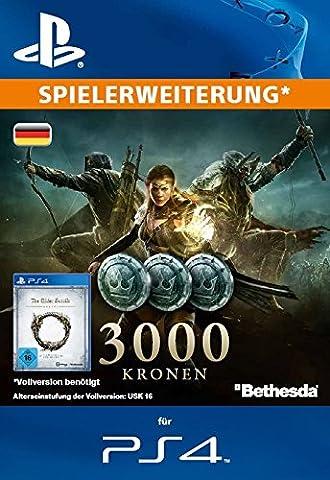 The Elder Scrolls Online : 3000 Kronen [Spielerweiterung] [PS4 PSN Code - deutsches Konto] (Ps Network Online)