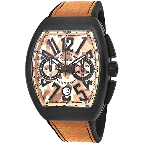Franck Muller Men's Vanguard Brown Leather Band Automatic Watch 45CCCAMSND