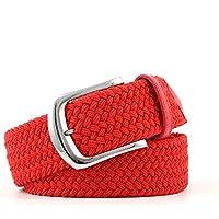 TINERS Lienzo Tejido Cinturón Hombres Y Mujeres Informal Salvaje Tejido Elástico Tejido Elástico Pin Hebilla Cinturón,Red