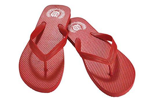 Strand Damen Rot 2x Herren Zehentrenner Badelatschen Farbe Wählbar Bade Größe Und Unisex Strandpantoletten Pantoletten YHt1qtCw