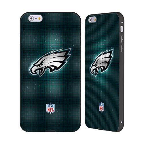 Ufficiale NFL LED 2017/18 Philadelphia Eagles Nero Cover Contorno con Bumper in Alluminio per Apple iPhone 6 Plus / 6s Plus LED