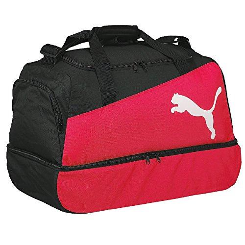 Puma, Borsa sportiva da calcio Pro Training, Nero/Rosso/Bianco (black-puma red-White)