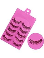 Tonsee® 5 pair Handmade Messy Natural cross False eyelashes Perfect eye lashes
