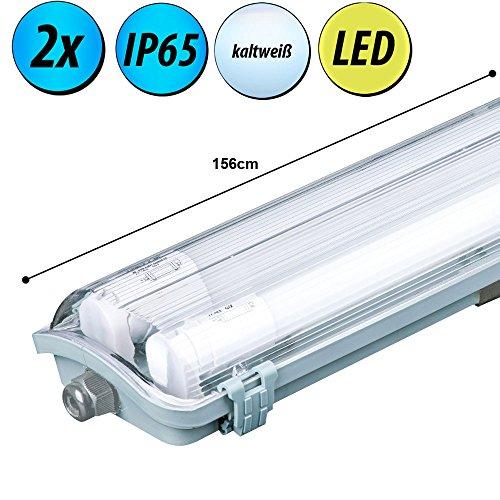 2er Set LED 44 Watt Wannen Röhren Leuchten Decken Strahler Garagen Keller Lampen
